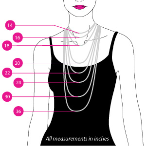 woman necklace size guide
