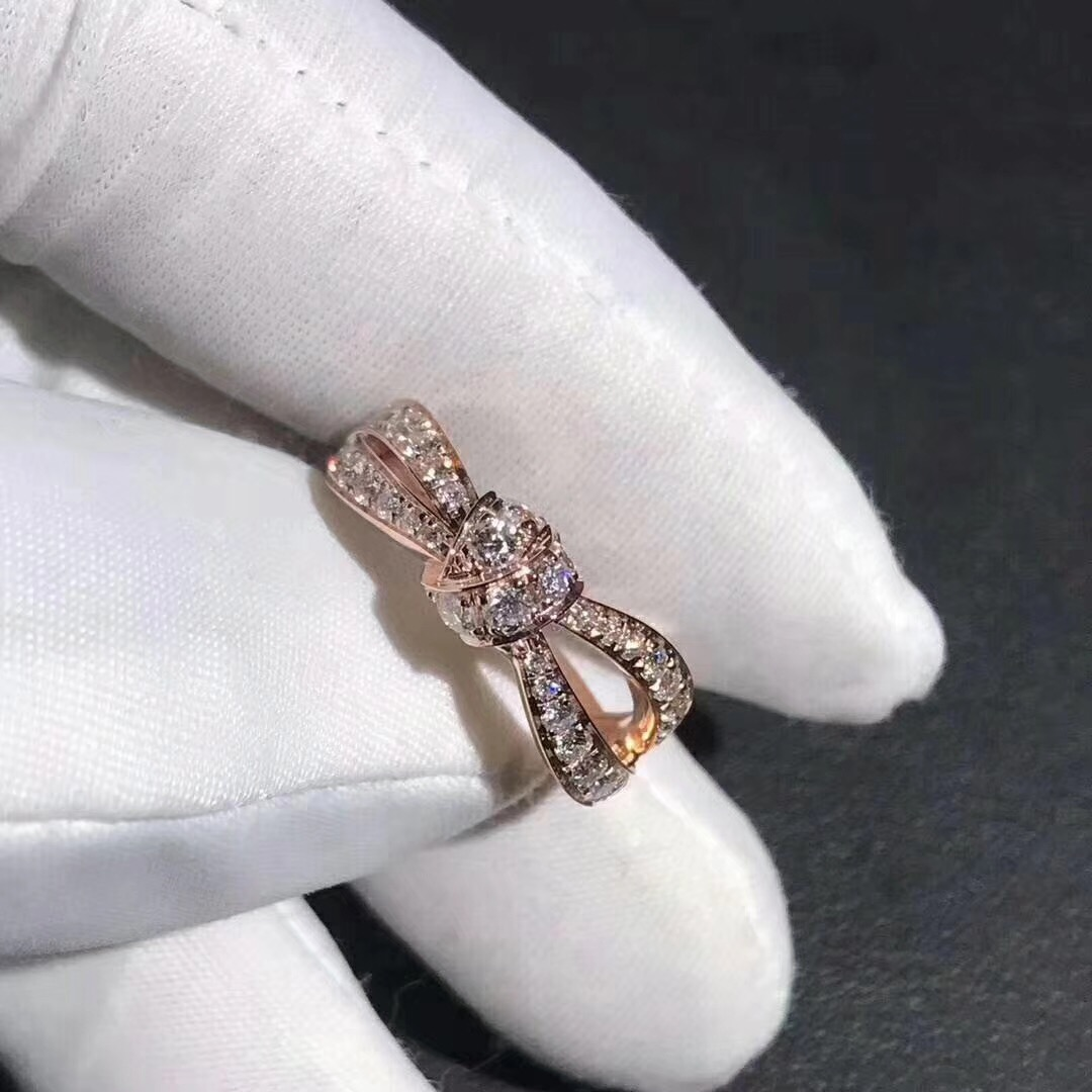 18K Chaumet Liens Séduction Diamond Bow Ring