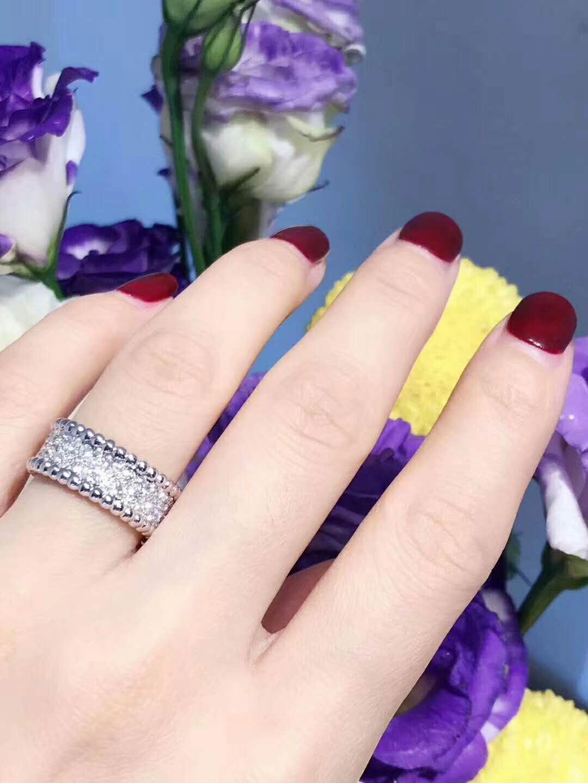 Van Cleef & Arpels Perlée Diamonds Ring in 18K White Gold