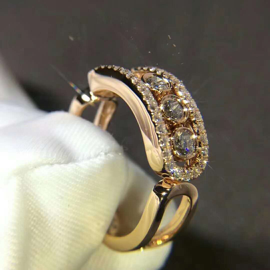 Messika Move Classic Pave Ring in 18k Pink Gold