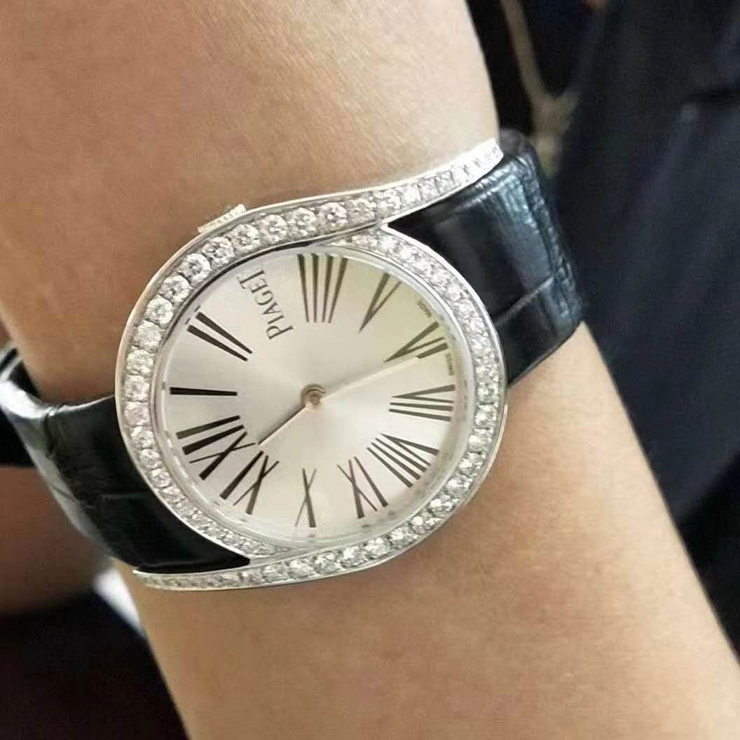 18k White Gold Piaget Limelight Gala Watch set with Brilliant-cut Diamonds and Mother of Pearl Dial G0A41260