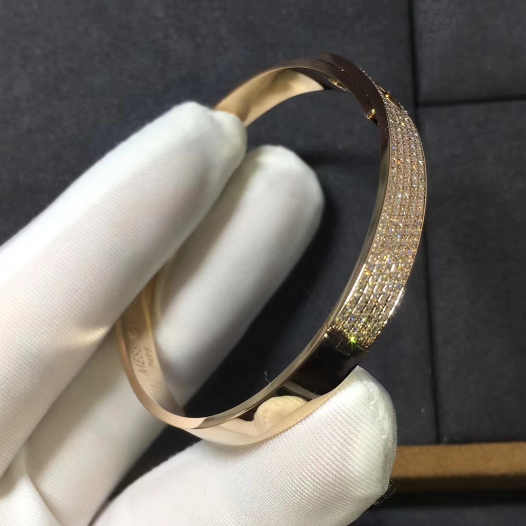 Messika Move Noa Pave Diamond Bangle in 18k Rose Gold