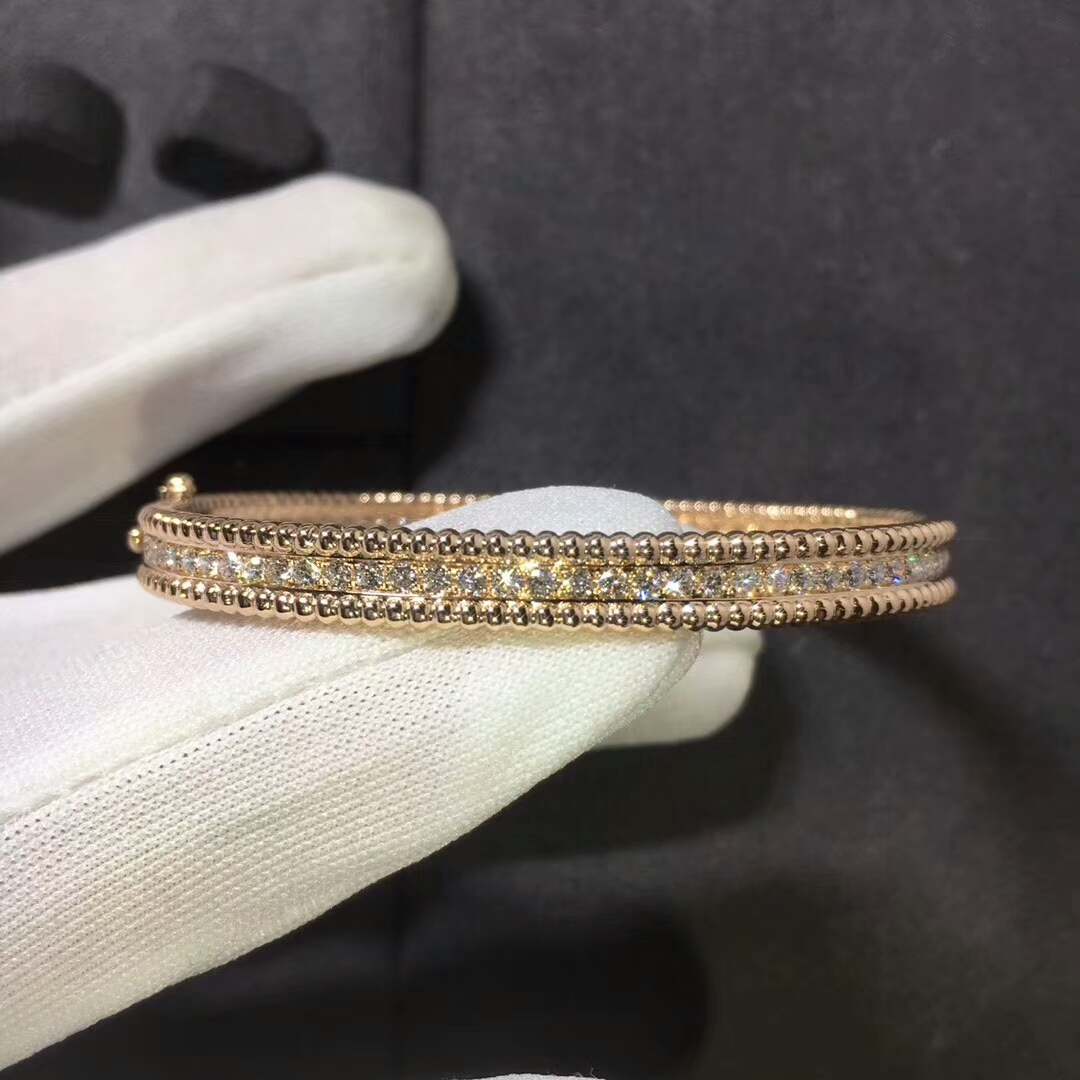 Perlée Diamonds Bracelet 1 Row Small Model VCARP27E00